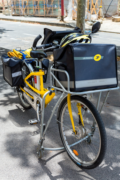 Gitane electric bicycle used by French postal service in Montpellier, France