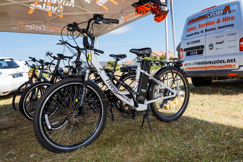 Electric bicycles at the Guernsey Electric Vehicle Expo in July 2017