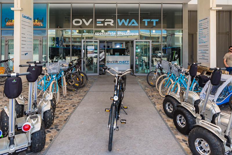 Over Watt electric mobility shop in Montpellier, France