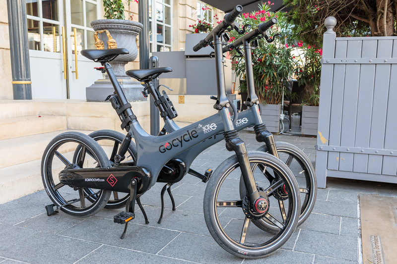 Electric GoCycles available to Intercontinental Hotel guests in Bordeaux, France