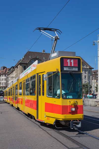 BLT line 11 to Aesch Basel tramway Switzerland 030815 ©RLLord 0303 smg