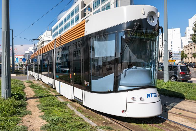 Bombardier Flexity Outlook tram on Boulevard de Dunkerque, Marseille, France