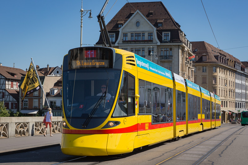 BLT line 11 to St  Louis Grenze Basel tramway Switzerland 030815 ©RLLord 0294 smg
