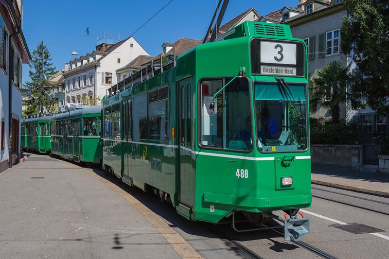 Basler Verkehrs-Betriebe line 3 Basel tramway Switzerland 030815 ©RLLord 0327 smg