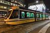 Ansaldobreda Sirietto tram operating in Milan, Italy