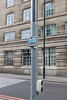 Electric vehicle charging socket on lamp post in London