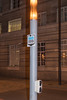 Electric vehicle charger on lamp post in London