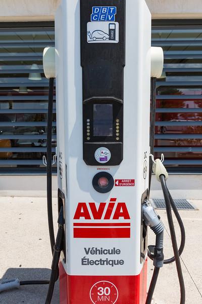 DBT quick electric vehicle charger at Aire de Vidauban Sud