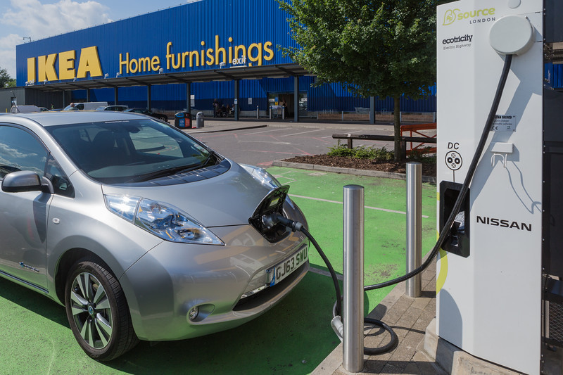 Source London electric car charger at Ikea in Wembley, London