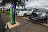 Schneider electric car charging Nissan Leaf Le Bourget Paris COP21 041215 ©RLLord 8544 smg