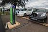 Schneider electric car charging Nissan Leaf Le Bourget Paris COP21 041215 ©RLLord 8544 smg