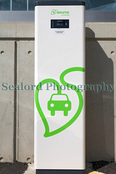 Source London electric vehicle charge point on Royal Victoria Dock, London