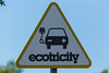 Ecotricity charging station at UK motorway service station