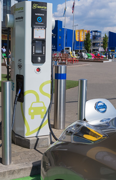 Source London electric vehicle charger outside Ikea at Wembley, London