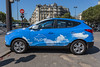 Hydrogen fuel powered taxi in Paris, France