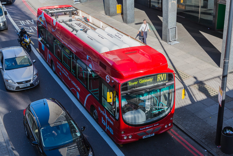 Hydrogen fuel cell bus Transport for London RV1 100915 ©RLLord 4281 smg
