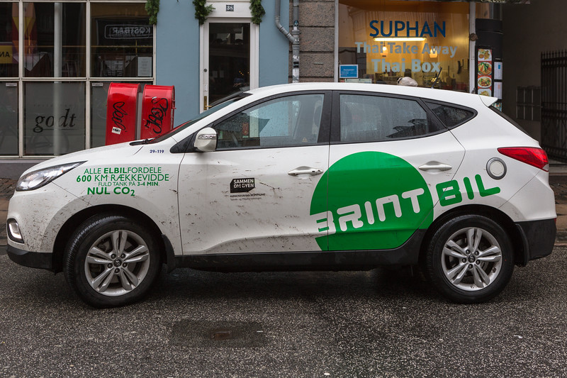 Hyundai ix35 fuel cell powered car operated by the city of Copenhagen