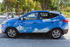 hydrogen fuel cell taxi Hyundai ix35 Avenue Matignon Paris 150816 ©RLLord 0187 smg
