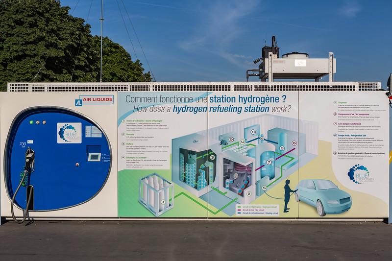 Hydrogen fuel station in Paris, France