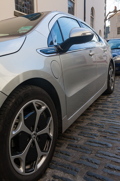 Chevrolet Ampera plug-in hybrid St Peter Port 160314 ©RLLord 0137 smg