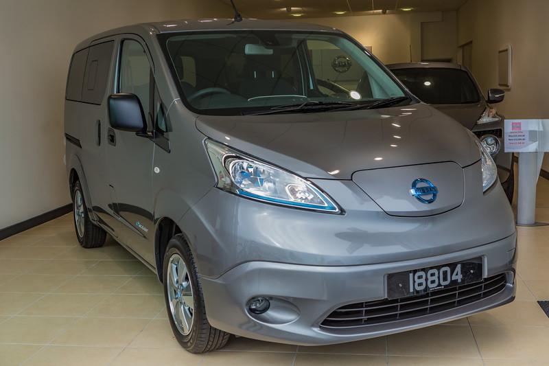 Nissan e-NV200 electric van in the showroom at Freelance Motors