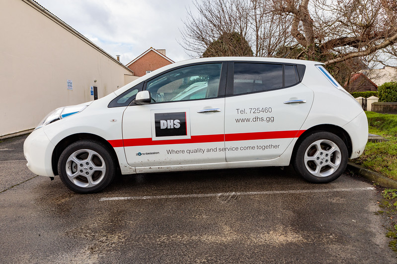 The Guernsey business DHS operates three Nissan Leaf electric cars
