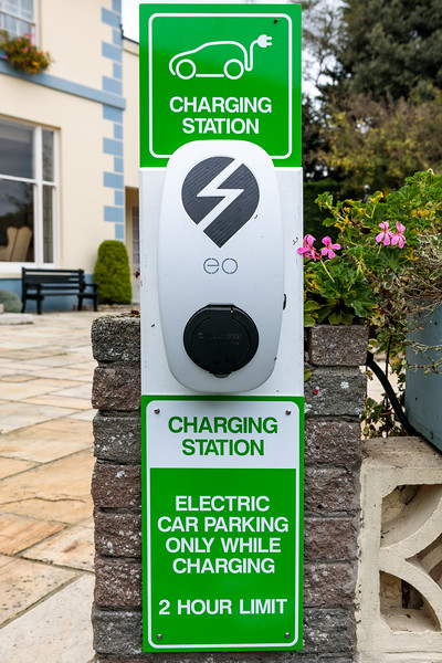 EO Charging station at Hotel de Havelet, St Peter Port, Guernsey