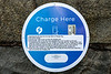 Electric vehicle charging sign at North Beach car park, St Peter Port, Guernsey