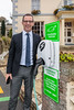 Hotel de Havelet General Manager, Hotel de Havelet next to an EO electric vehicle charger in the hotel car park
