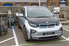 BMW i3 uses an EO charger at North Beach car park, St Peter Port, Guernsey