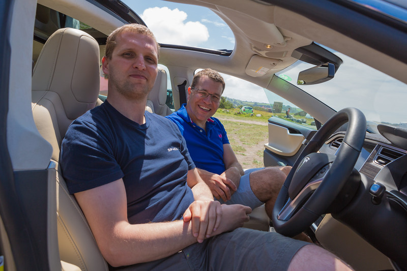 Tesla S P85 D Zoltan James Guernsey electric vehicle open day 250616 ©RLLord 3846 smg