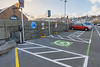 Electric vehicle parking spaces at North Beach car park, St Peter Port, Guernsey