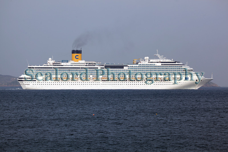 Costa Pacific passenger ship in the Little Russel off St Peter Port, Guernsey