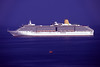 P&O Cruise's Arcadia passenger ship moored off Fort George, Guernsey