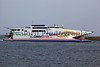 Condor Vitesse ferry entering St Peter Port harbour, Guernsey