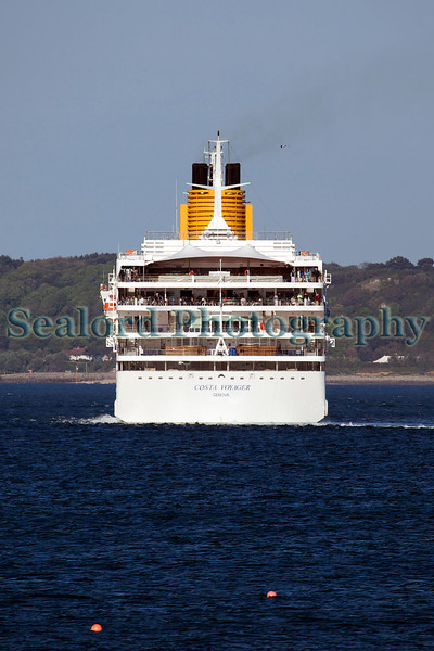 Costa Voyager cruise ship stern Herm Island 220512 ©RLLord 3025 smg