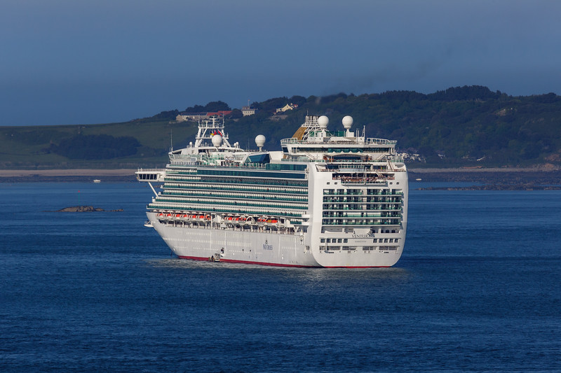 P&O Cruises MV Ventura anchored in the Little Roussel off St Peter Port, Guernsey