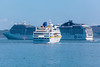 The Hamburg and the MSC Magnifica visiting Bailiwick of Guernsey waters