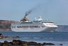 Oceana passenger ship moored in the Little Russel off St Peter Port