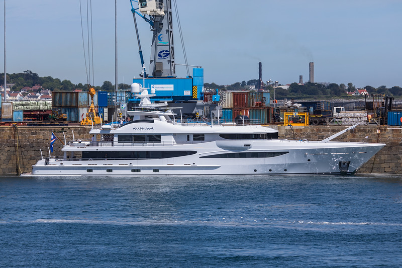 M/Y Driftwood in St Peter Port harbour, Guernsey