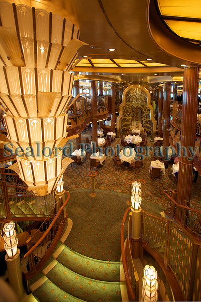 Queen Elizabeth cruise ship one of the dining rooms 110911 ©RLLord 0671 smg