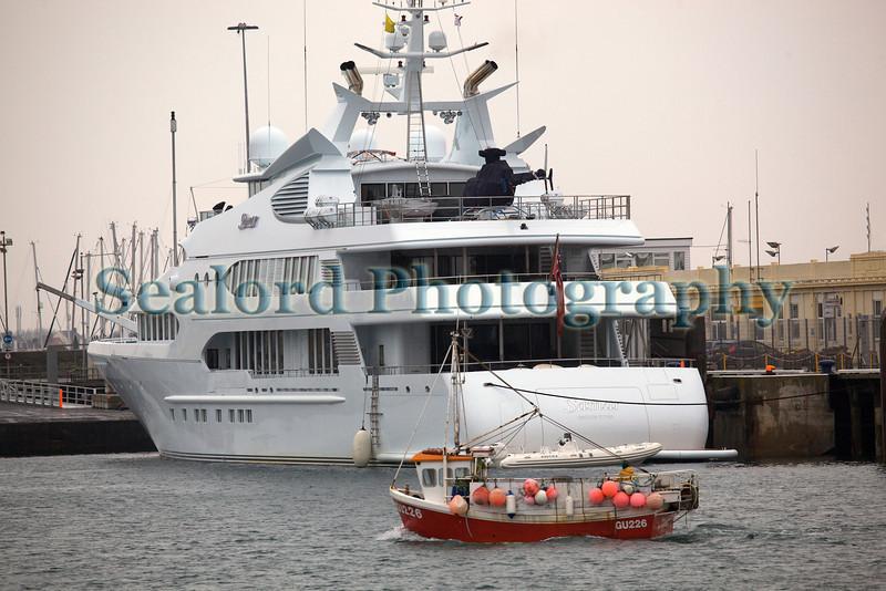 M/Y Samar in St Peter Port harbour, Guernsey