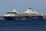 Mein Schiff 1 passenger ship at anchor in the Little Roussel off St Peter Port, Guernsey