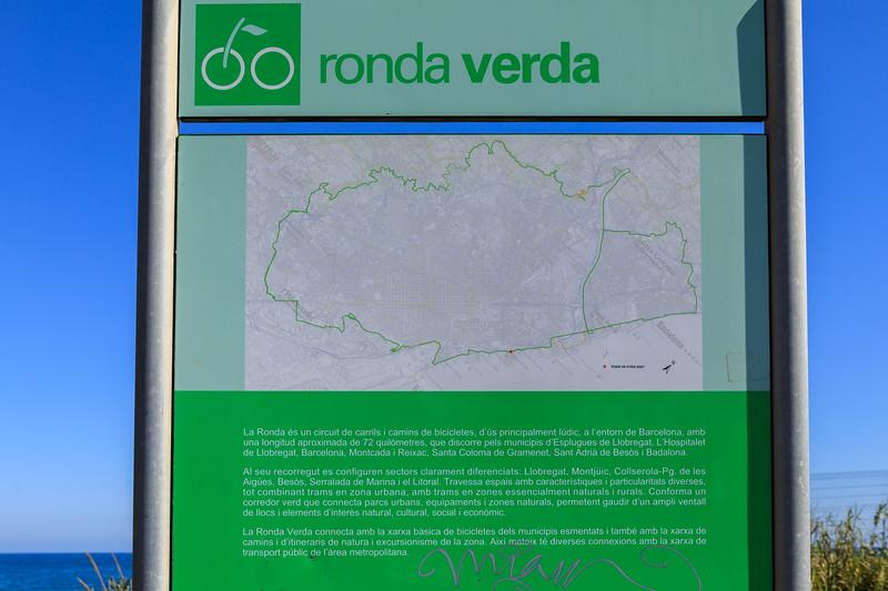 Ronda Verda bicycle route around Barcelona, Spain
