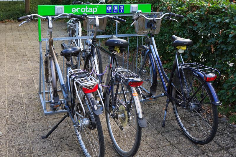 ecotap electric bicycle charging rack in Plasmolen, The Netherlands