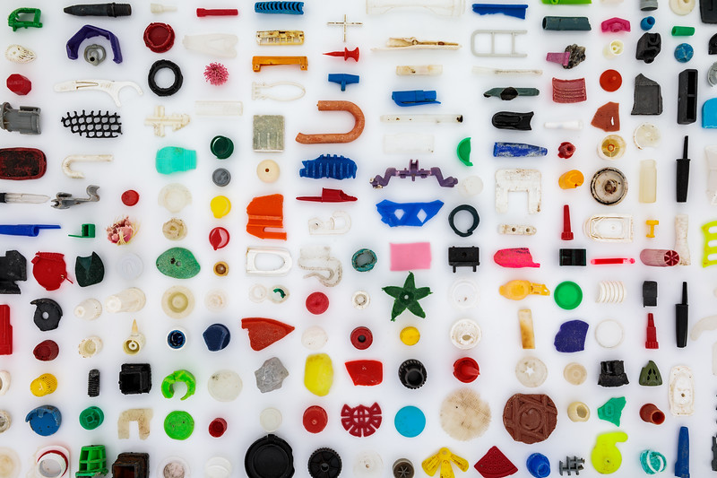 Small pieces of plastic found on the Guernsey sea shore