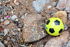 Wilson ball on the sea shore at Petit Port on Guernsey's south coast on 16 June 2018