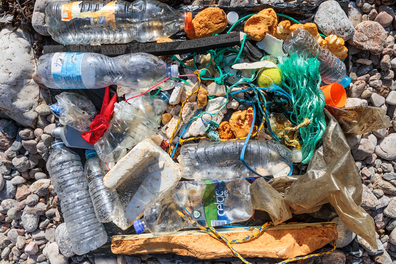 Beach clean litter collected from Petit Port bay on Guernsey's south coast on 13 October 2017
