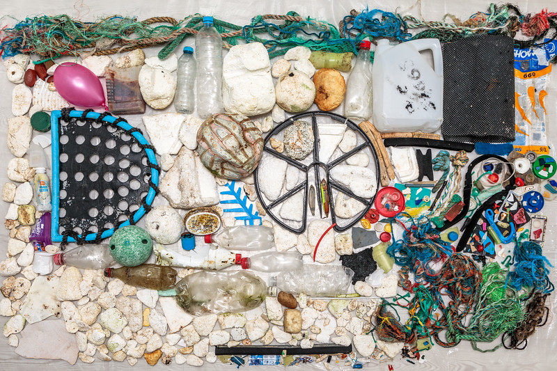 Petit Port beach clean litter collected on 13th January 2019