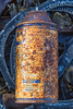 Rusty WD 40 spray can on a Guernsey north coast beach on the 22nd September 2021
